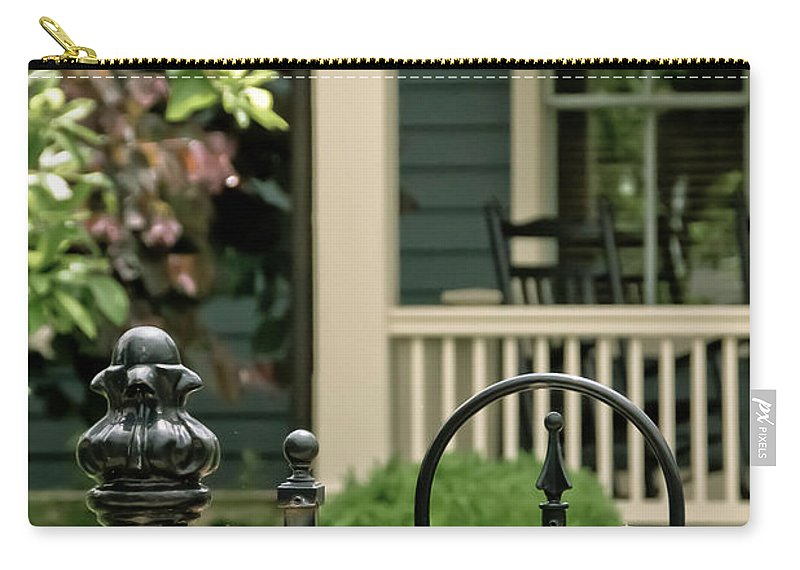 Porch Carry-all Pouch featuring the photograph Sunday Afternoon In Doylestown by Trish Tritz