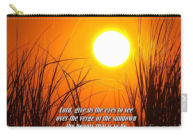 Sunset Carry-all Pouch featuring the photograph Sundown Beauty by Nick Zelinsky
