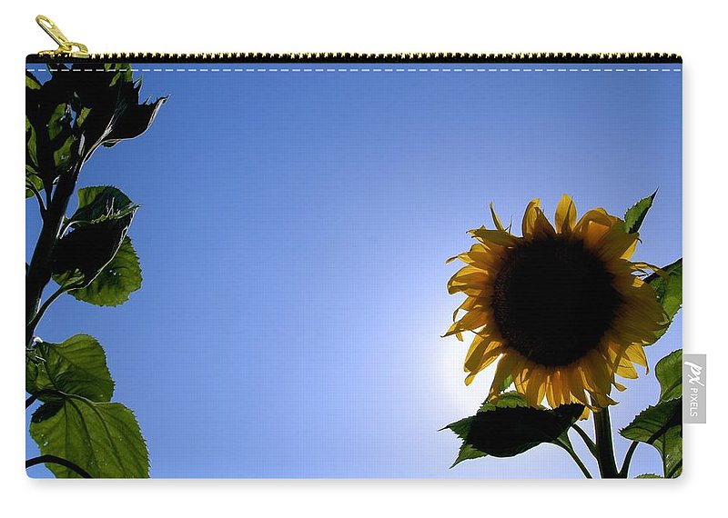 Sunflower Carry-all Pouch featuring the photograph Sunflower In The Sun by Eric Tressler
