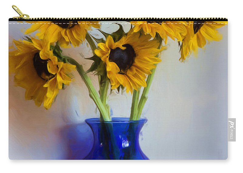 Sunflowers Carry-all Pouch featuring the photograph Sunflower Still Life by Heidi Smith
