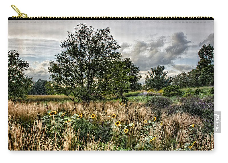 Chicago Carry-all Pouch featuring the photograph Sunflowers In Bloom by Scott Wood