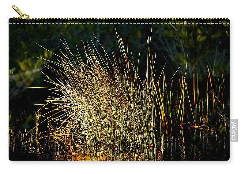 Sunset Carry-all Pouch featuring the photograph Sunlight On Grass Merritt Island Nwr by Rich Franco