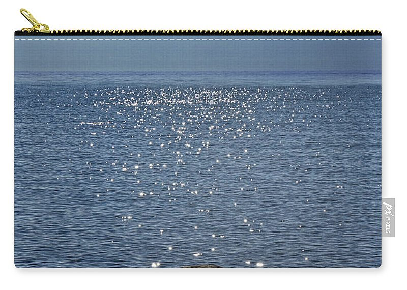 Art Carry-all Pouch featuring the photograph Sunlight Sparkling On The Water At Sturgeon Point by Randall Nyhof