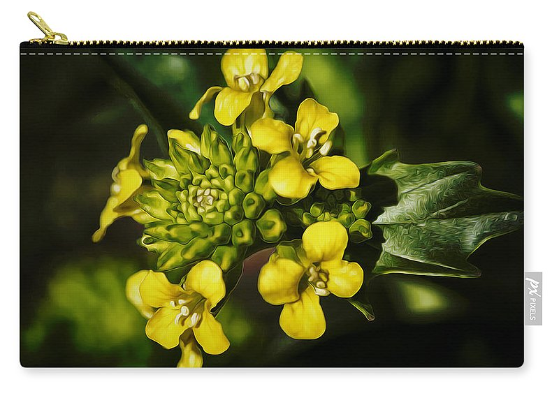 Flower Carry-all Pouch featuring the photograph Sunny Floret by Linda Tiepelman
