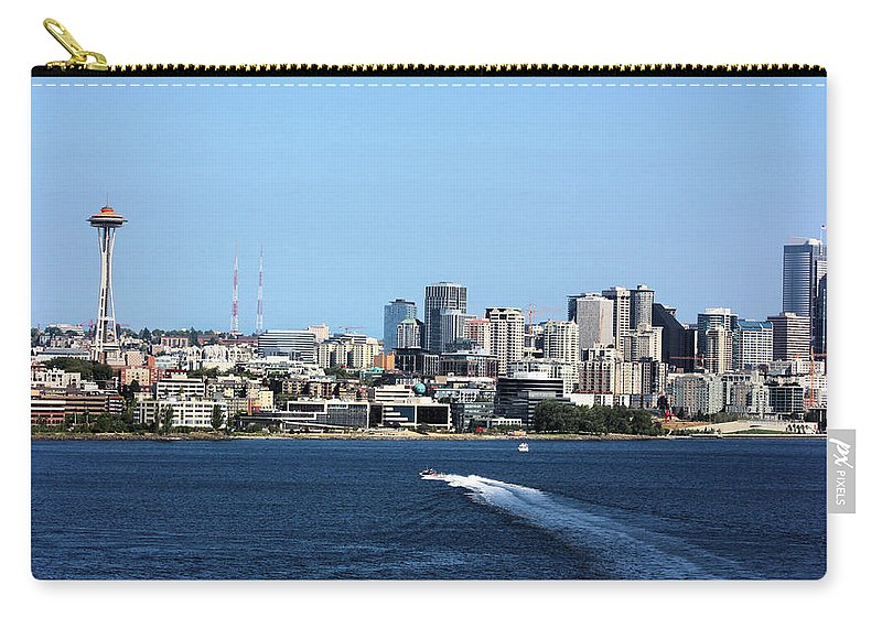 Seattle Carry-all Pouch featuring the photograph Sunny Seattle by Kristin Elmquist