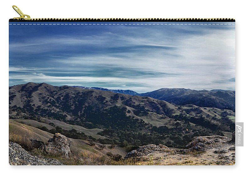 Sunol Carry-all Pouch featuring the photograph Sunol-flag Hill by Karen W Meyer