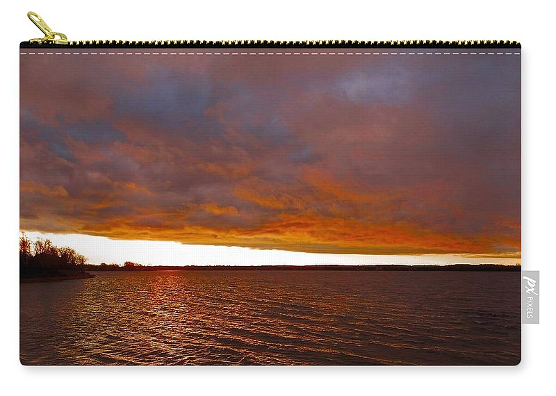 North America Carry-all Pouch featuring the photograph Sunrise At Ile-bizard ... by Juergen Weiss