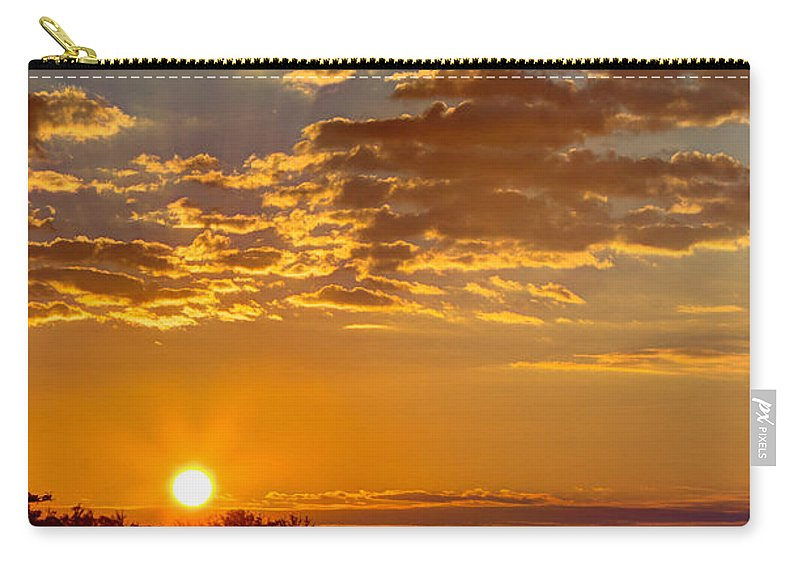Sunrise Carry-all Pouch featuring the photograph Sunrise Bayou by Joan McCool