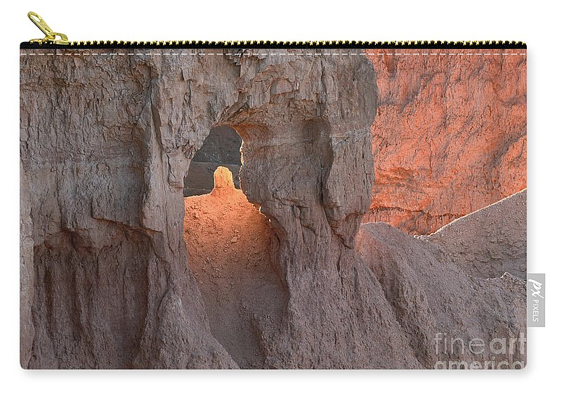 Landscape Carry-all Pouch featuring the photograph Sunrise Detail Bryce Canyon by Sandra Bronstein