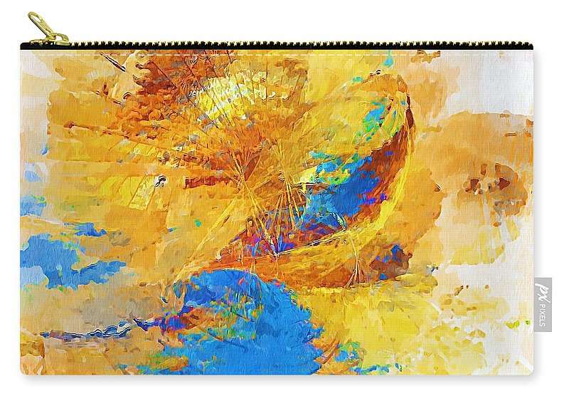 Painting Carry-all Pouch featuring the digital art Sunrise by Marek Lutek