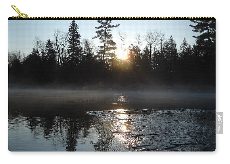 Mississippi River Carry-all Pouch featuring the photograph Sunrise On Ice by Kent Lorentzen
