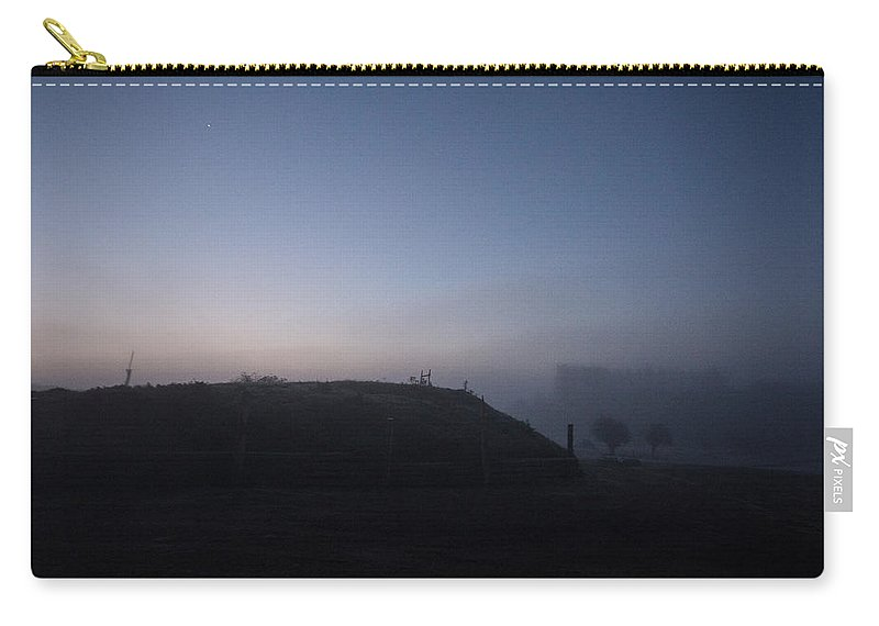 Sunrise Carry-all Pouch featuring the photograph Sunrise Over The Hill by Dawn OConnor