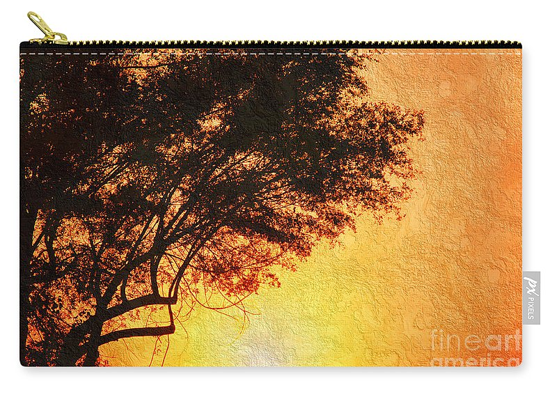 Sunrise Carry-all Pouch featuring the photograph Sunrise Silhouette by Andee Design