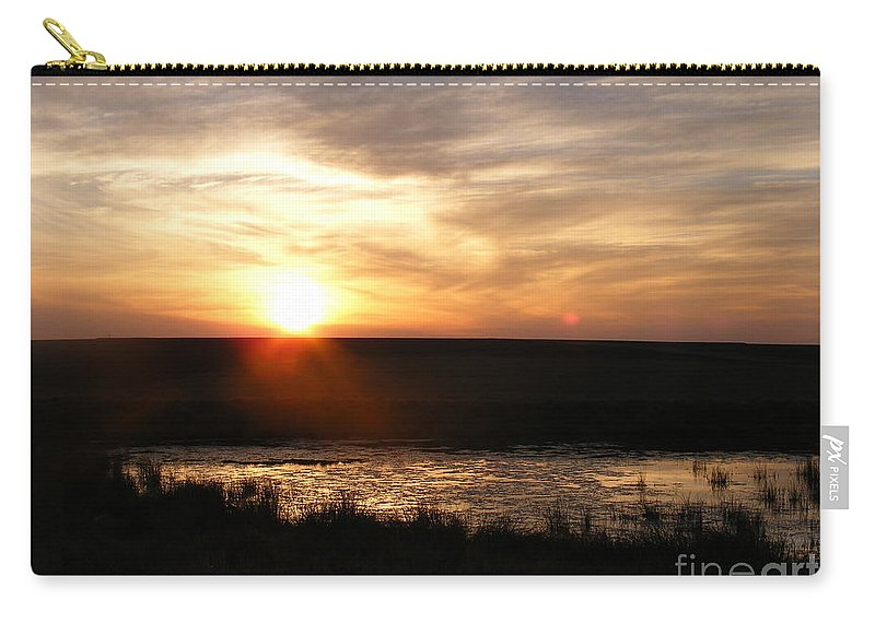 Sunset Carry-all Pouch featuring the photograph Sunset And Water by Helena Marais