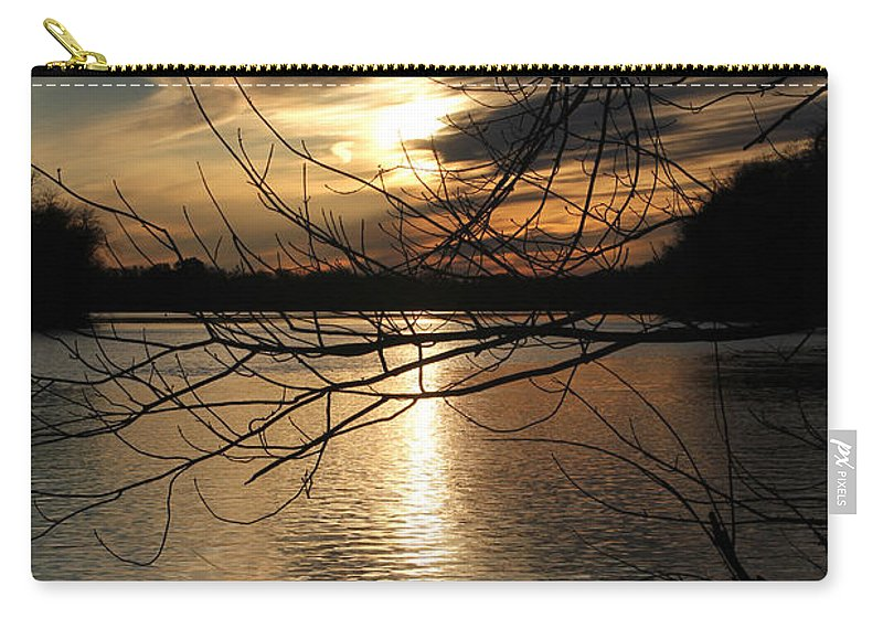 Tn Carry-all Pouch featuring the photograph Sunset At The Lake by Ericamaxine Price
