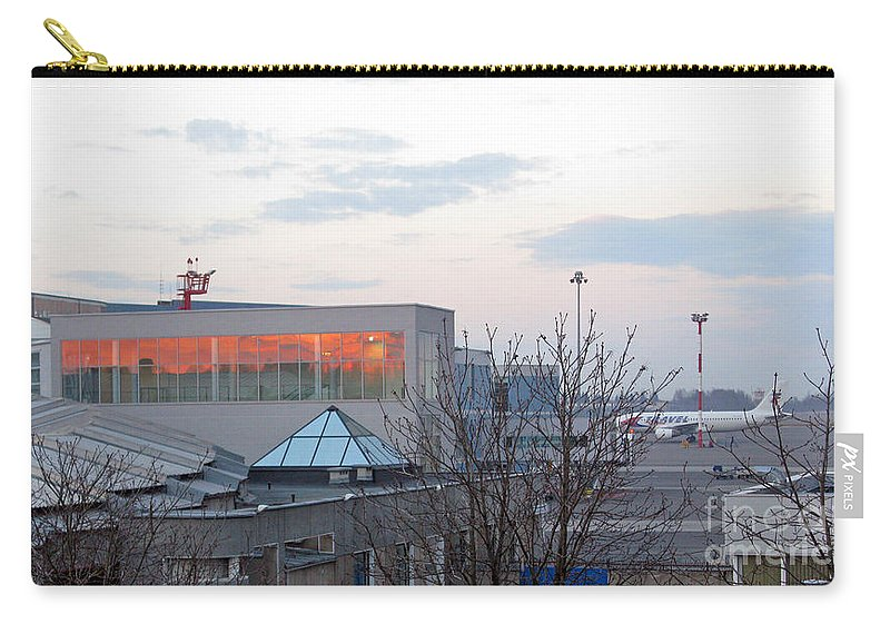 Sunset Carry-all Pouch featuring the photograph Sunset At Vno by Ausra Huntington nee Paulauskaite