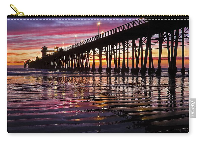 Sunset Carry-all Pouch featuring the photograph Sunset Bliss by Julianne Bradford
