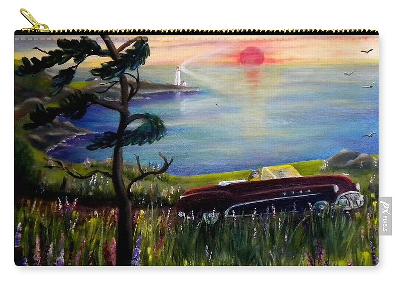 1949 Carry-all Pouch featuring the photograph Sunset Cruisin' by Renate Nadi Wesley