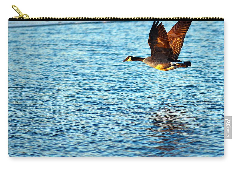 Sunset Carry-all Pouch featuring the photograph Sunset Flight by Edward Peterson