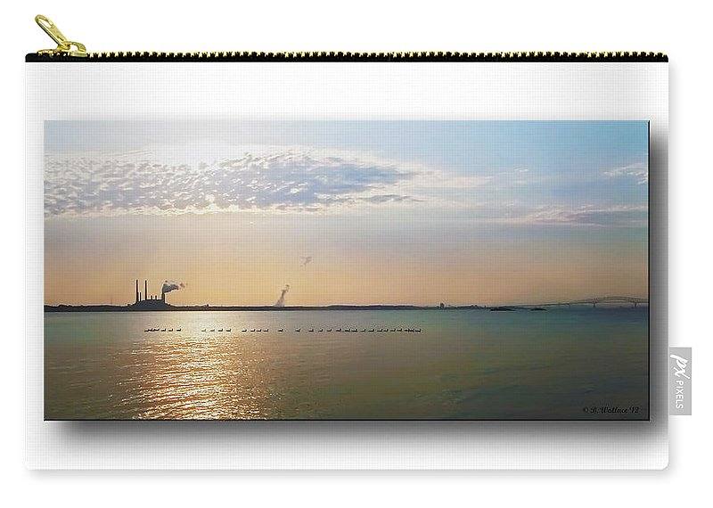 2d Carry-all Pouch featuring the photograph Sunset Geese by Brian Wallace