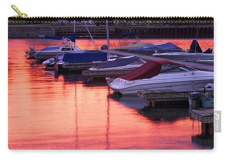 Boating Carry-all Pouch featuring the photograph Sunset Harbor by Phill Doherty
