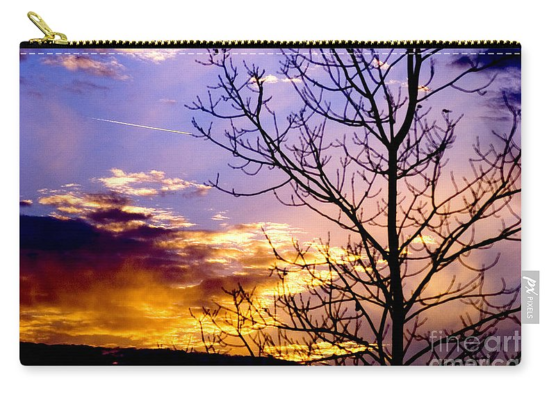 Sunset Carry-all Pouch featuring the photograph Sunset by Optical Playground By MP Ray