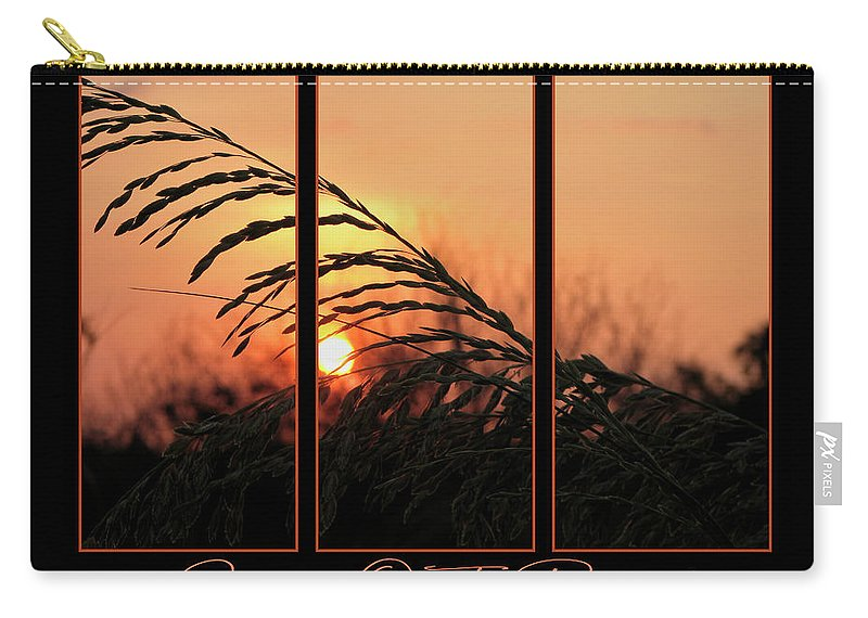 Sunset On Beach Carry-all Pouch featuring the photograph Sunset On The Beach by Carolyn Marshall