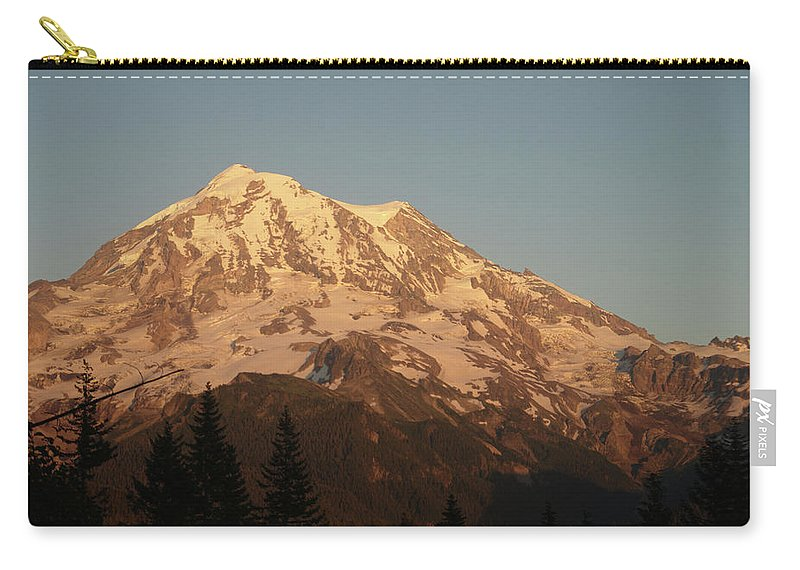 Sunset Carry-all Pouch featuring the photograph Sunset On The Mountain by Michael Merry