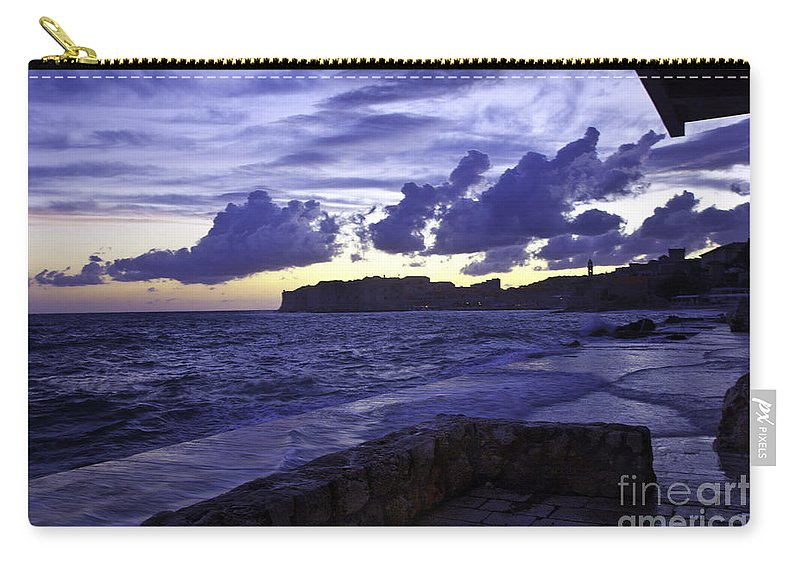 Sunset Carry-all Pouch featuring the photograph Sunset Over Dubrovnik by Madeline Ellis