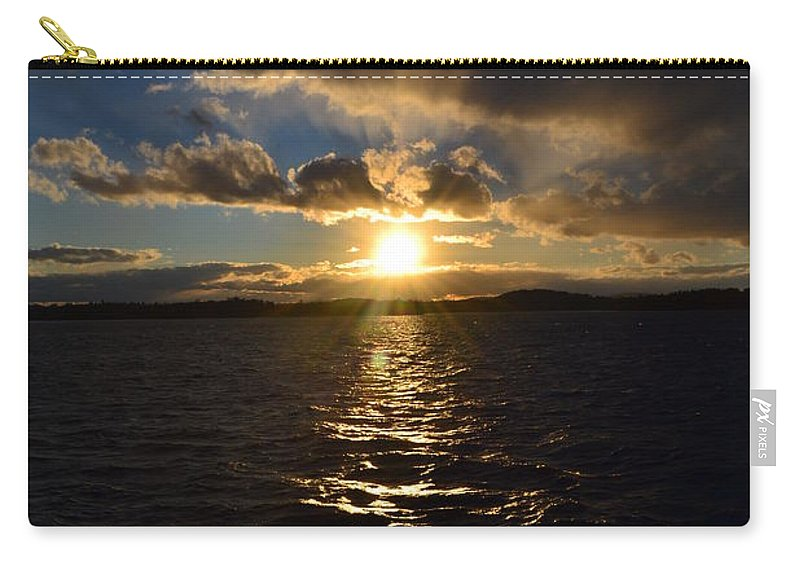 Lake Carry-all Pouch featuring the photograph Sunset Over Winnepesaukee by Kevin Fortier