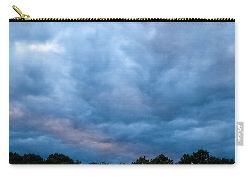 Photography Carry-all Pouch featuring the photograph Sunset Painted Sky by Steven Natanson