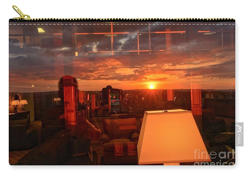 Mckeever Lodge Sunset Carry-all Pouch featuring the photograph Sunset Reflections by Adam Jewell