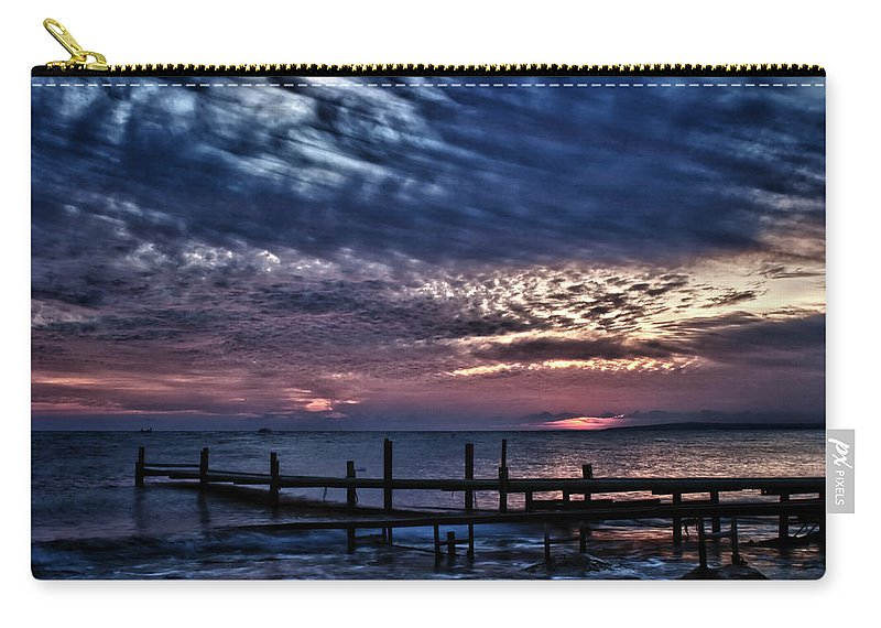 Beach Carry-all Pouch featuring the photograph Sunset by Stelios Kleanthous