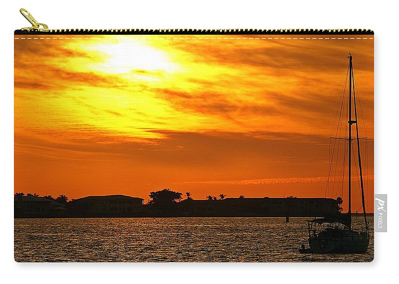 Sunset Carry-all Pouch featuring the photograph Sunset Viii by Joe Faherty