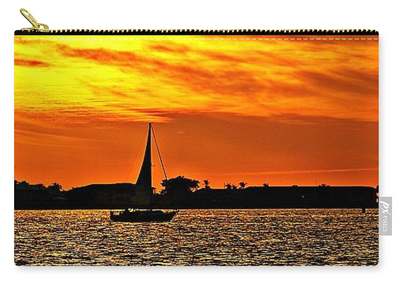 Sunset Carry-all Pouch featuring the photograph Sunset Xii by Joe Faherty