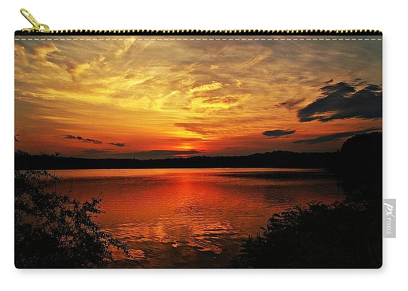 Sunrise Carry-all Pouch featuring the photograph Sunset Xxv by Joe Faherty