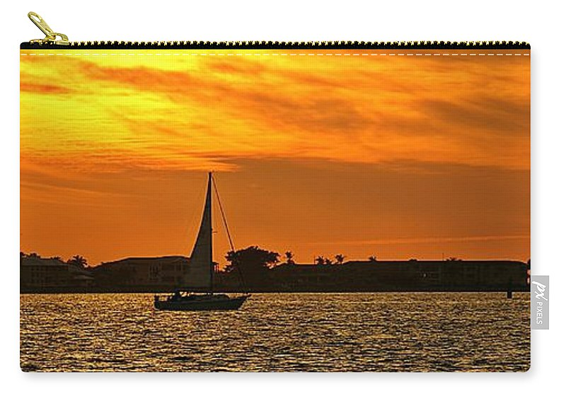 Sunset Carry-all Pouch featuring the photograph Sunset Xxxiii by Joe Faherty