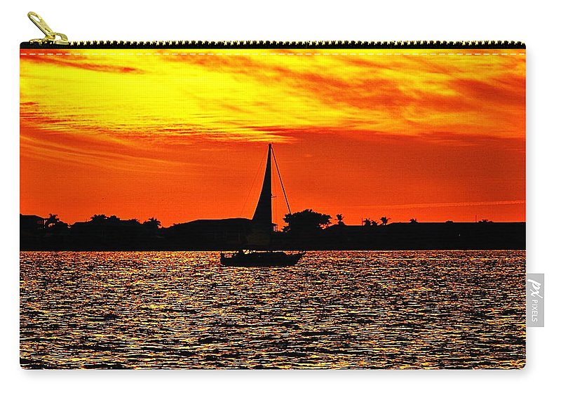 Sunset Carry-all Pouch featuring the photograph Sunset Xxxiv by Joe Faherty