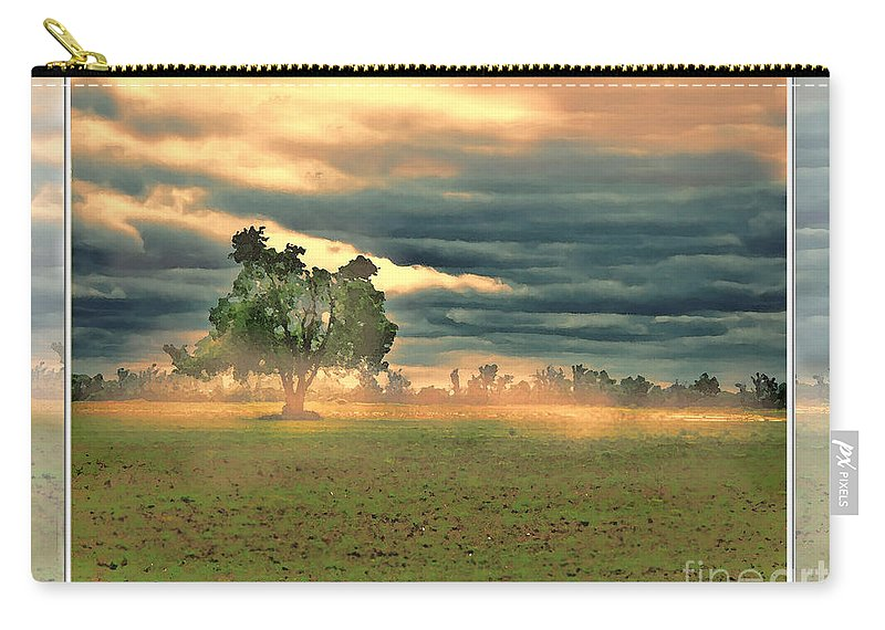 Nature Carry-all Pouch featuring the digital art Sunshine On A Cloudy Day by Debbie Portwood
