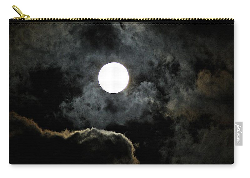 Super Carry-all Pouch featuring the photograph Super Moon II by Joe Faherty