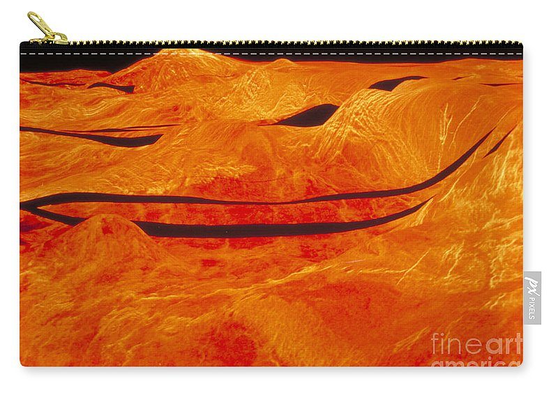 Astronomy Carry-all Pouch featuring the photograph Surface Of Venus by Nasa