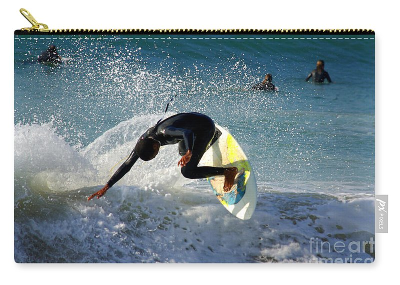 Active Carry-all Pouch featuring the photograph Surfer by Carlos Caetano