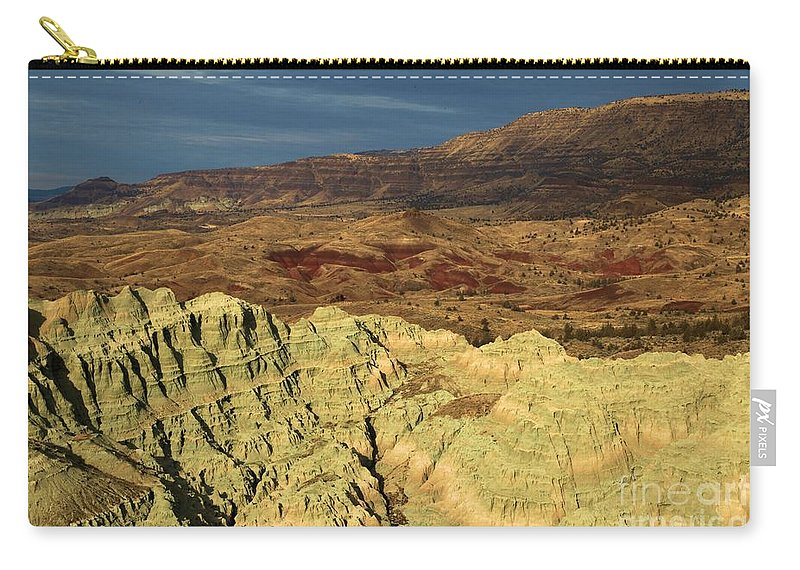 John Day Fossil Beds National Monument Carry-all Pouch featuring the photograph Surreal Colors by Adam Jewell