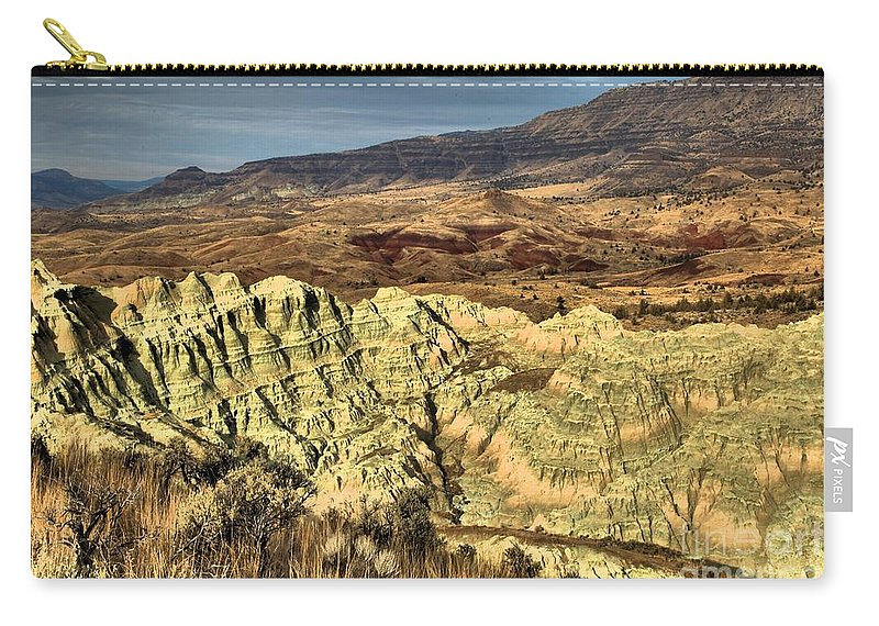 John Day Fossil Beds National Monument Carry-all Pouch featuring the photograph Surreal Landscape by Adam Jewell