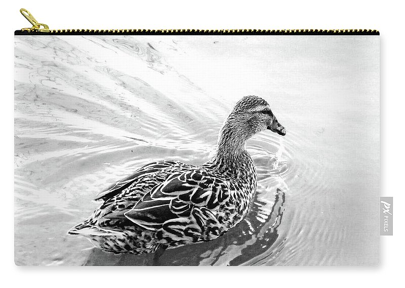 Duck Carry-all Pouch featuring the photograph Susie Duck by Lizi Beard-Ward