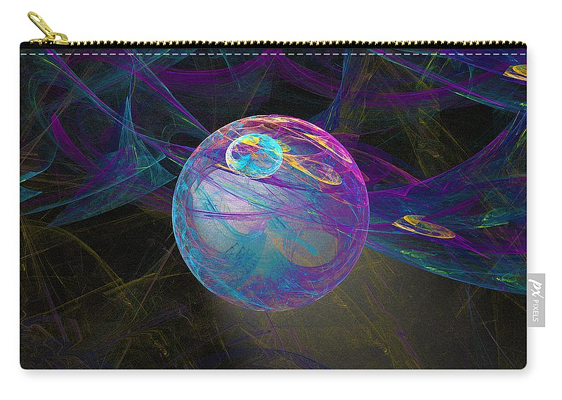 Suspension Carry-all Pouch featuring the digital art Suspension by Victoria Harrington