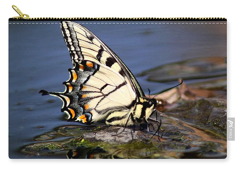 Butterfly Carry-all Pouch featuring the photograph Swallowtail - Walking On Water by Travis Truelove