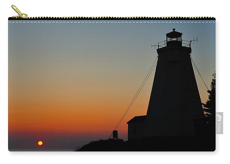 Sunrise Carry-all Pouch featuring the photograph Swallowtail Sunrise - Grand Manan by Tony Beck