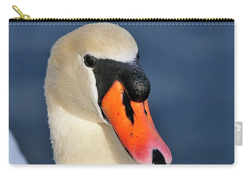 Mute Carry-all Pouch featuring the photograph Swan by Bill Dodsworth