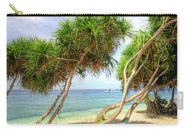 Yhun Suarez Carry-all Pouch featuring the photograph Swaying Palm Trees by Yhun Suarez